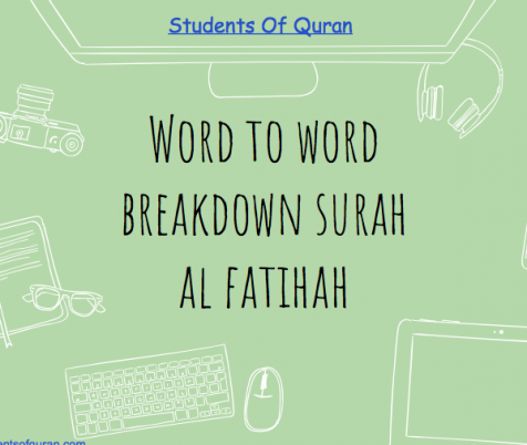 Word to Word of Quran – Presentation Al Fatihah