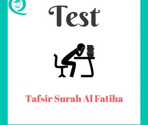 Tafsir Al Fatihah Test