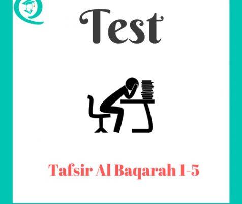 Tafsir Al Baqarah 1-5 Test