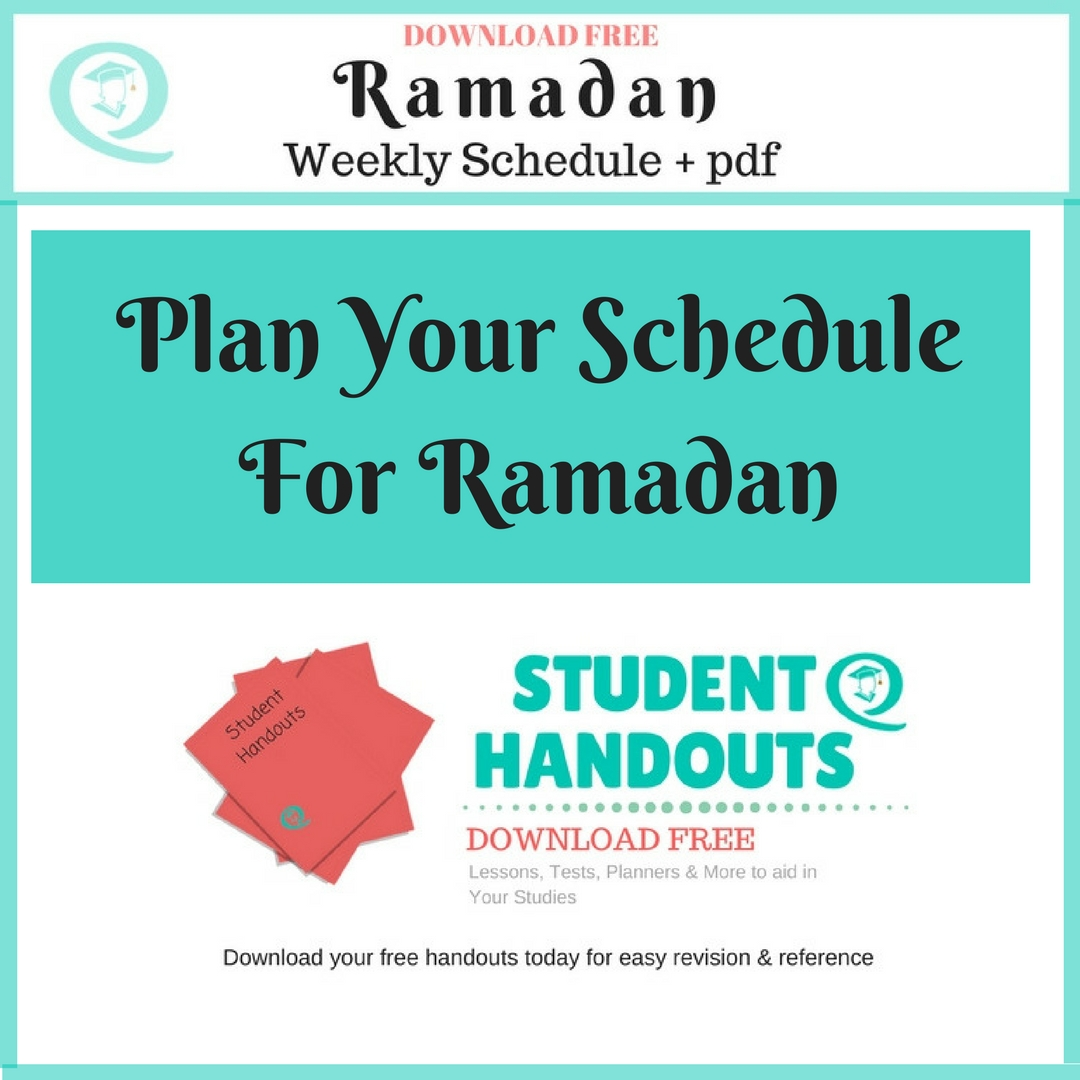 Plan Your Schedule For Ramadan