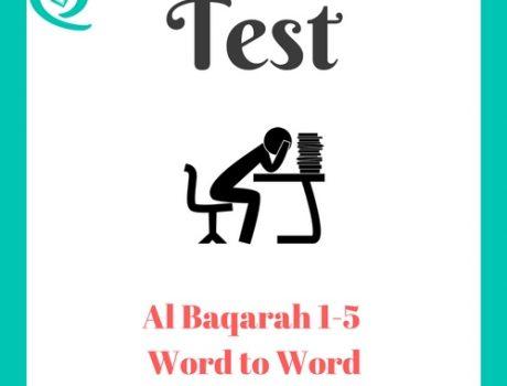Word to Word Baqarah 1-5 Test