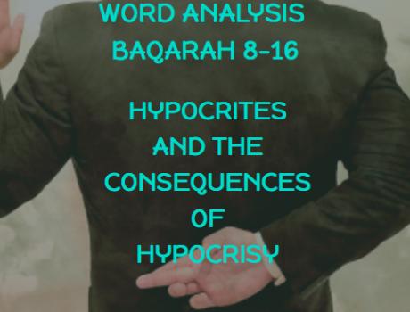 Word Analysis of Quran Lesson 4 Baqarah 8-16