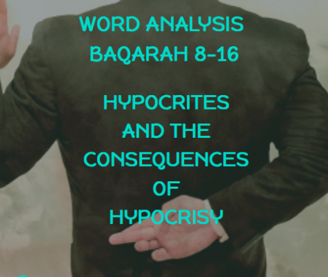 Word Analysis of Quran Lesson 4 Baqarah 8-16