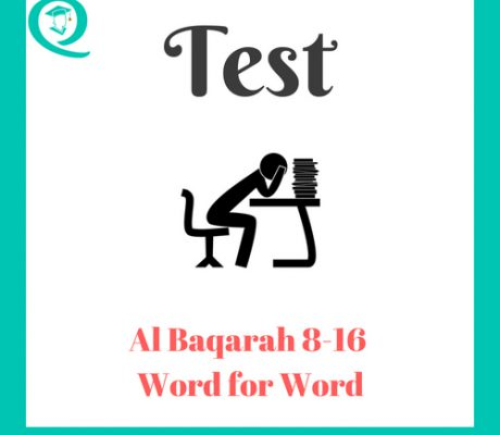 Word For Word Baqarah 8 -16 Test