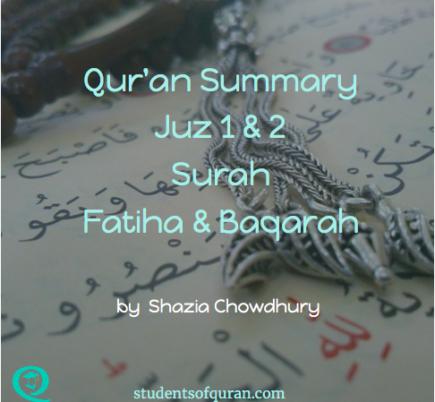 Qur'an Summary – Juz 1 & 2 Surah Fatiha & Baqarah