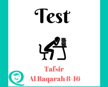 Tafseer Al Baqarah 8-16 Test