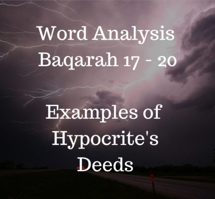Word Analysis of Quran Lesson 5 Baqarah 17-20